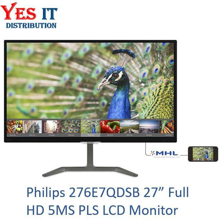 Philips 276E7QDSB 27 Full HD 5MS PLS LCD Monitor Malaysia