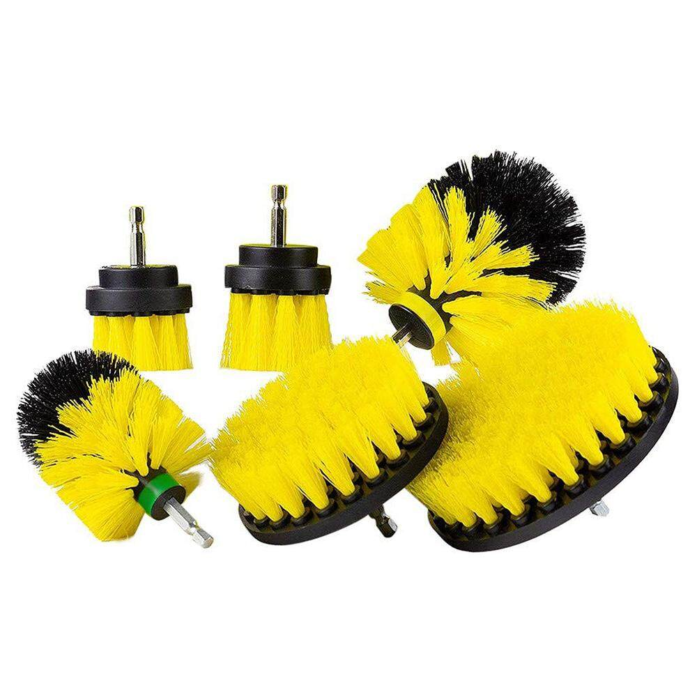 Drill Brush Attachment Set - Power Scrubber Brush Cleaning Kit - All Purpose Drill Brush- Fits Most Drills - Power Scrubber Cleaning Kit,Set Of 6