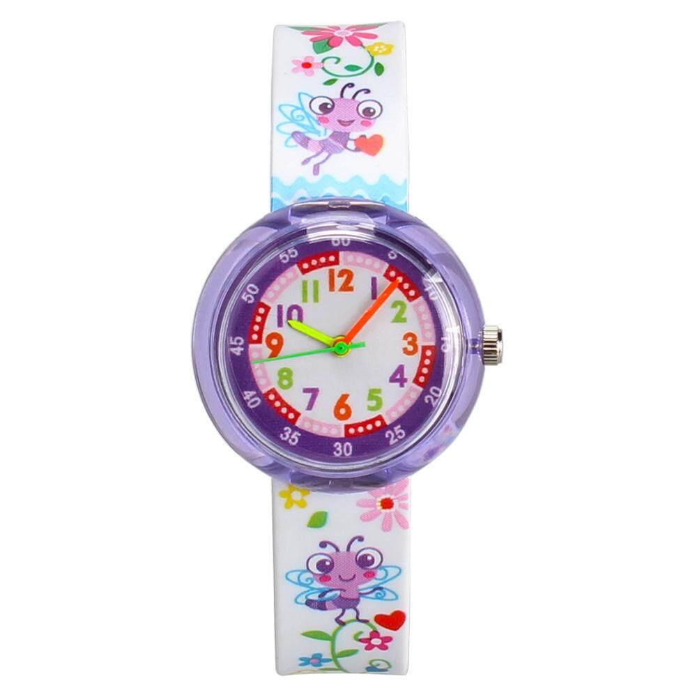 การ์ตูนนักเรียนเด็กนาฬิกาซิลิโคนขนาดเล็กสดและน่ารักการ์ตูนตารางตัวชี้วัด By J.w Star.