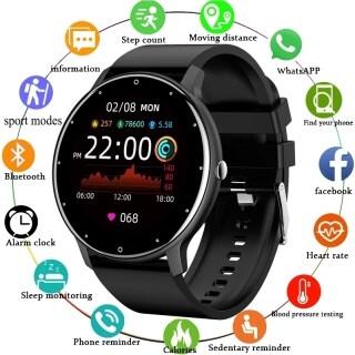 LIGE Đồng Hồ Thông Minh Mới 2021 Đồng Hồ Thể Thao Nữ Toàn Màn Hình Cảm Ứng Đồng Hồ Nam Chống Nước IP67 Cho Android Ios + Box thumbnail