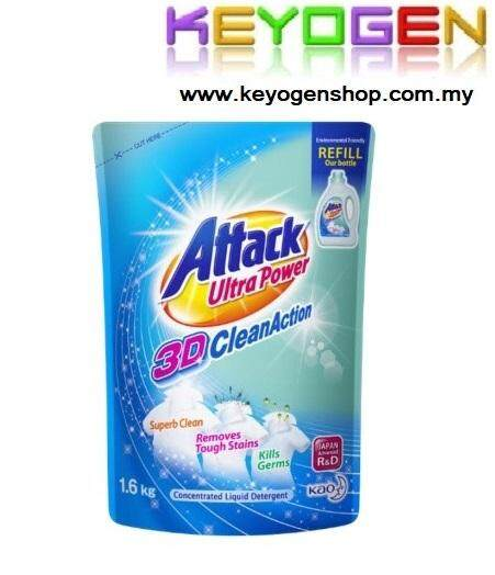 Attack Liquid Detergent Ultra Power 3D Clean Action Refill 1.6kg