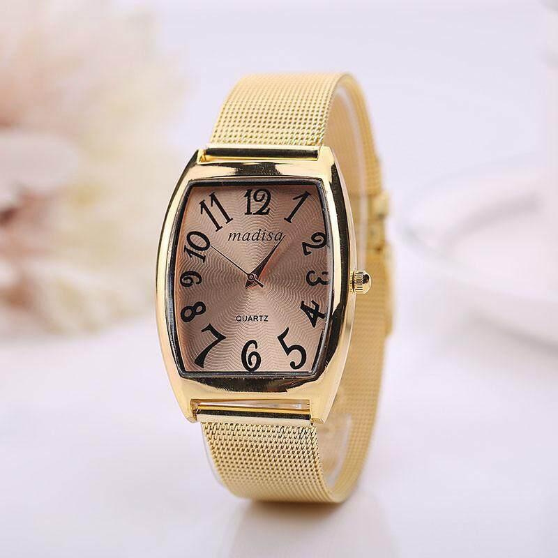 BPFAIR Rectangular Head Women Lady Classic Quartz Stainless Steel Wrist Watch Free shipping Malaysia