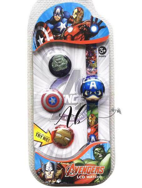 Angel Baby Captain America Kids Toy LCD Watch Malaysia