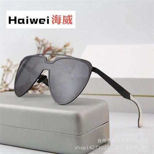 5c6f32657a3 Retro metal big box sunglasses tide male 2018 Korean version of the  personality sunglasses color film