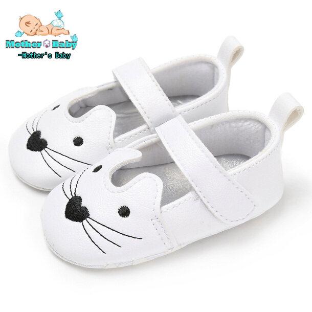 Bé Gái Đi Bộ Đầu Tiên Dễ Thương, Khuôn Đúc Em Bé Đế Mềm Hình Mèo Hoạt Hình Prewalkers Giày Dép giá rẻ