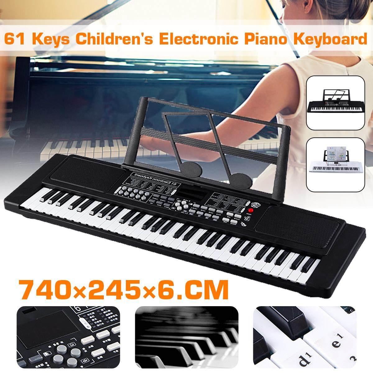 61 Phím Nhạc Kỹ Thuật Số Bàn Phím Điện Tử Đàn Piano Điện Bộ Micrô