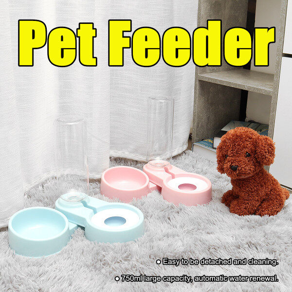 750ml Pet Cat Dog Automatic Feeders Folding Water Dispenser Drinking Feeding Food Bowls