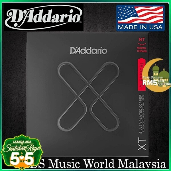 DAddario XTC45 XT Silver Plated Copper Classical Guitar String Normal Tension Daddario D Addario Malaysia