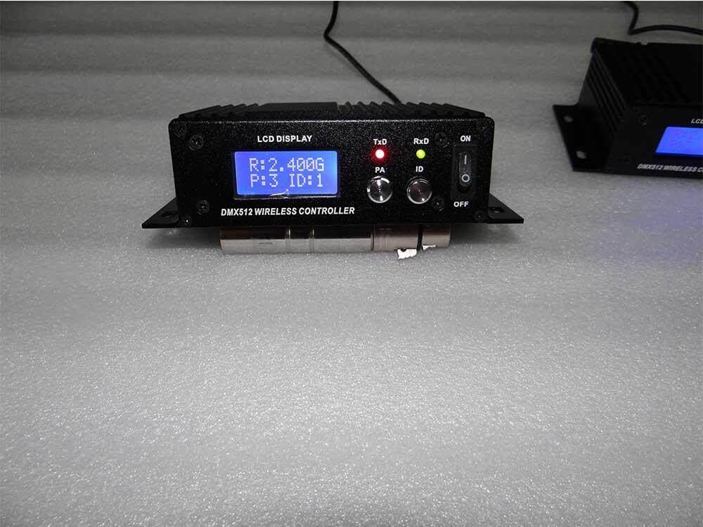 DMX512 Màn Hình LCD Hiển Thị Ánh Sáng Máy Tín Hiệu Tiếp 2.4G Điều Khiển Không Dây Bộ Truyền Phát Không Dây DJ Tín Hiệu Transimit Cho Đèn Sân Khấu di Chuyển Đầu Đèn LED