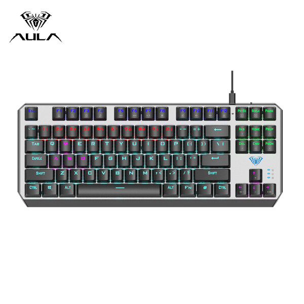 AULA F2067 Mechanical Gaming Keyboard Type-C Wired RGB Backlight Floating Keycap  Keyboard Professional Gaming Office Keyboard Singapore