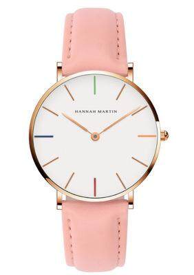 2019 HM New Designer HANNAH MARTIN Classical White Women Ladies Brand Fashion Casual Quartz Leather Nylon Watches Malaysia
