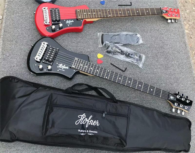 free shipping multi color hofner Shorty mini Travel Guitar Protable beginner guitar kid Electric guitar Malaysia