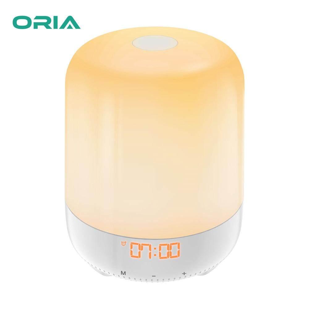 ORIA Đồng Hồ LED 7 Màu Sắc Đồng Hồ Báo Thức Kỹ Thuật Số Đồng Hồ Để Bàn Với Đánh thức Ánh Sáng Đèn Đêm Đầy Màu Sắc Cho Nặng Đèn Ngủ đầu giường Và Trẻ Em bán chạy