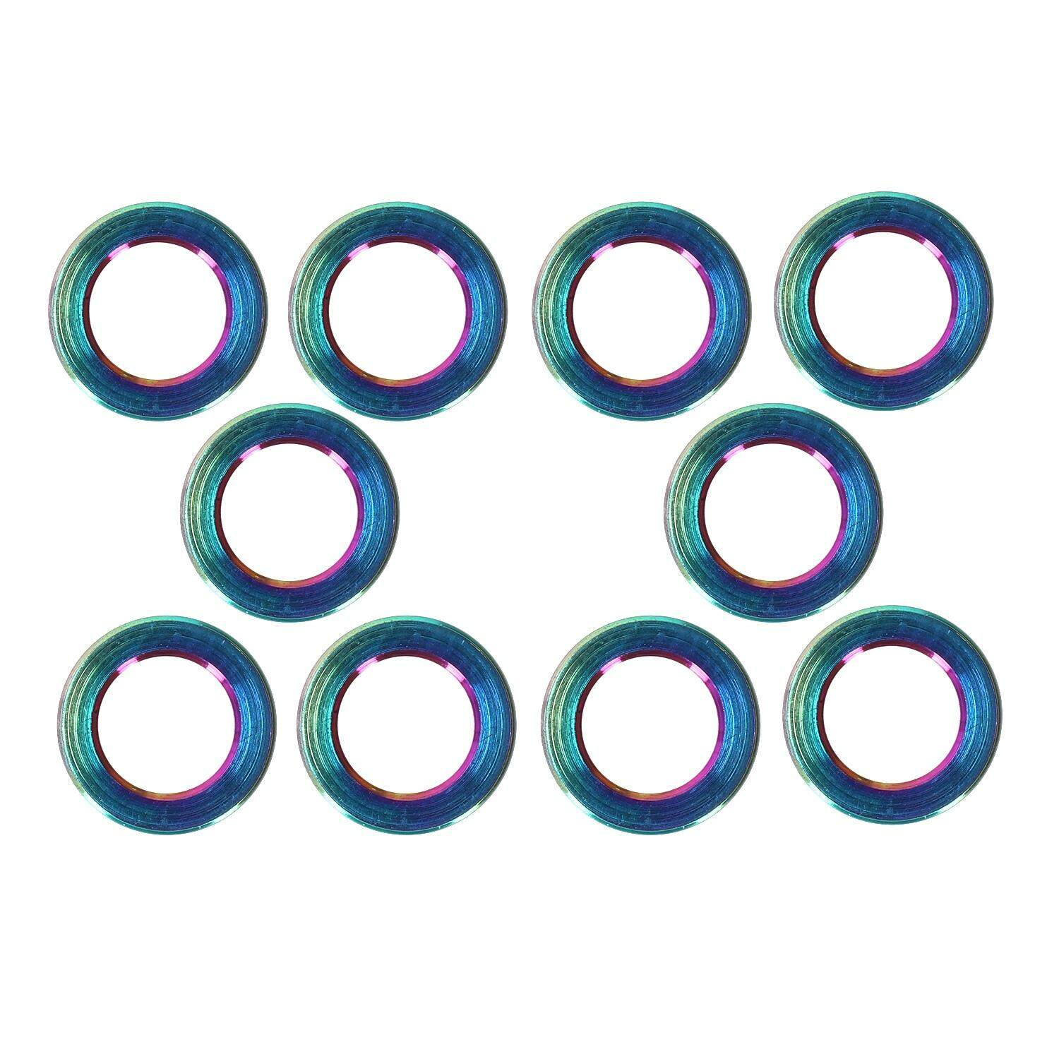 RISK 10PCS/lot Flat Washer for Bicycle Titanium Bike Ti Bolts Screw Spacer for MTB Bicyce Bolts Parts Cycling Bolt Spacer Colorful