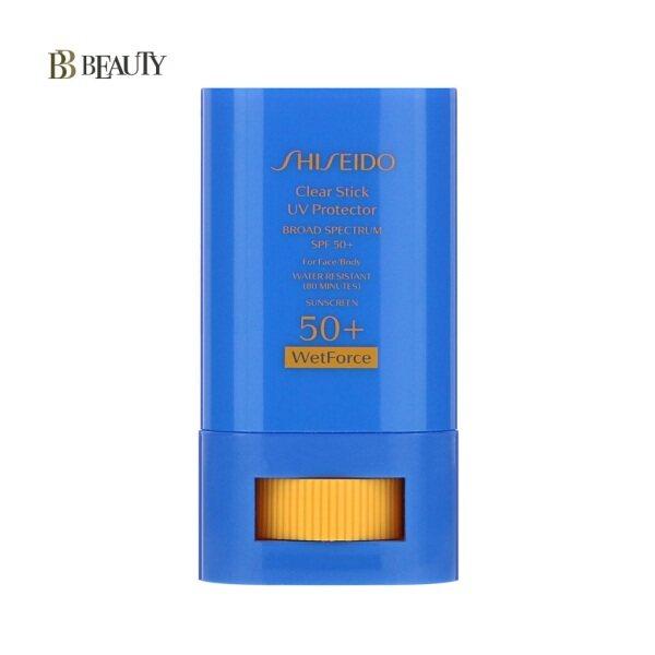 Buy Shiseido Clear Stick UV Protector 15g WetForce SPF50+ For Face & Body  (expiry 2022/Feb) Singapore