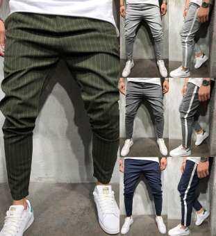 ผู้ชายกางเกงแทร็ค Casual กีฬาการวิ่งออกกำลังกาย Jogger กางเกงรัดรูปกางเกงกางเกง-