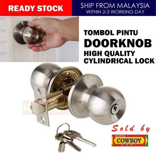 Stainless Steel Doorknob High Quality Cylindrical Lock / Tombol / Pintu Rumah