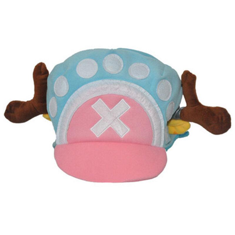 New Anime One Piece Tony Chopper Cap Cosplay Plush Winter Hat Gifts Light Blue