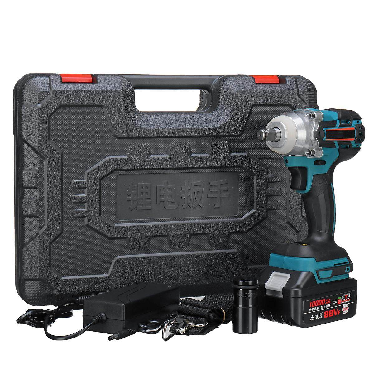 Brushless Cordless 21V 330Nm Electric Impact Wrench +10000mAh Li-Ion Battery
