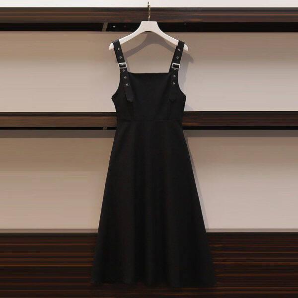 Bộ [Cặp Song Sinh] Đầm Nữ Lớn Áo Sơ Mi Thời Trang Chị Em Béo Mới Mùa Thu 2020 Váy Mỏng Khoe Bộ Hai Mảnh M-4XL