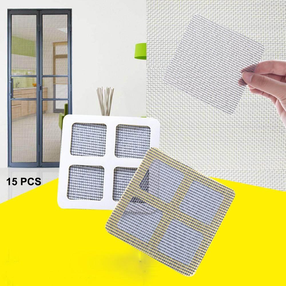 15 CHIẾC Cửa Sổ Cửa Lưới Lưới Màn Hình Keo Tự Sửa Chữa Cố Định Miếng Dán Miếng Dán cho Bao Che Lỗ Ngăn Ngừa Muỗi Côn Trùng