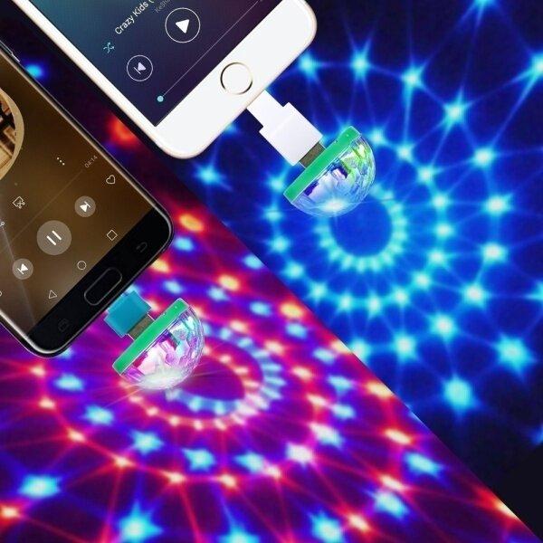 Đèn Led Vũ Trường Lampu Usb Hàng Có Sẵn Đèn Disco Lampu Kelab Malam, Đèn Led USB Hình Nấm Mini Dễ Thương Cho Ô Tô Đèn Nhấp Nháy Đêm Kỳ Nghỉ Lãng Mạn RGB Đèn Sân Khấu Âm Thanh DJ Disco