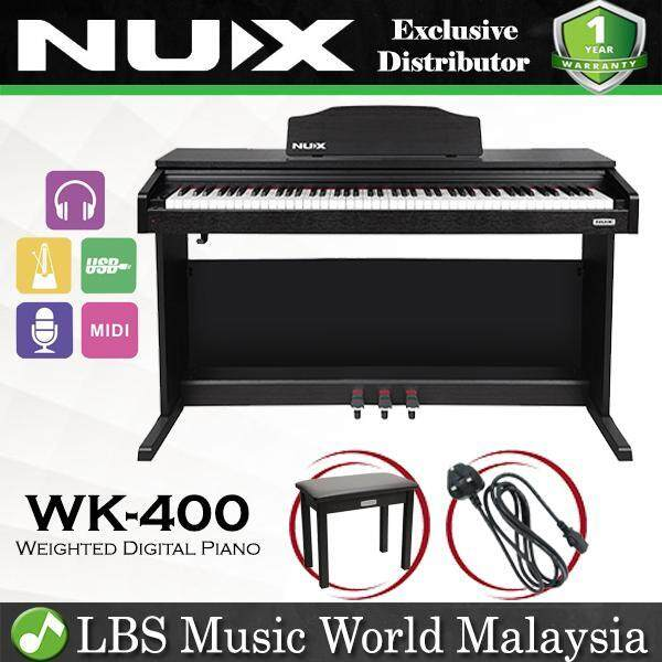 NUX WK-400 88 Key Digital Piano Full Weighted Keys Hammer Action Pianos (WK400 WK 400) Malaysia