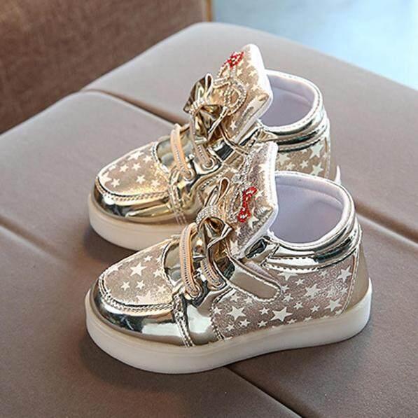 Giày bốt búp bê huadoaka cho bé gái giày thể thao thời trang phát sáng ngôi sao cho trẻ em bé gái trẻ nhỏ có nhiều màu giá rẻ