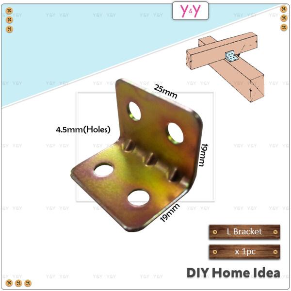 T Rex DIY 19mm x 19mm x 25mm Furniture Angle Bracket / L Bracket / Corner Joint Brace / L Shaped Bracket