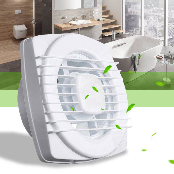 4 inch Silent Extractor Exhaust Fan 220V Home Hotel Glass Windows Wall Hang Kitchen Bathroom Toilet Ventilation Exhaust Fan