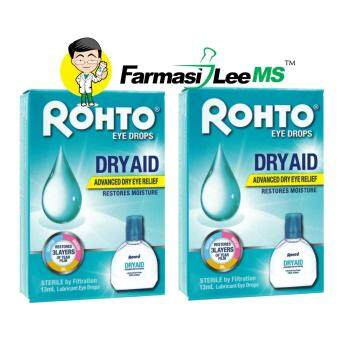 Rohto Eye Drops DRY AID 13ml x2 bottles (Exp 12/2021) Advanced Dry Eye Relief