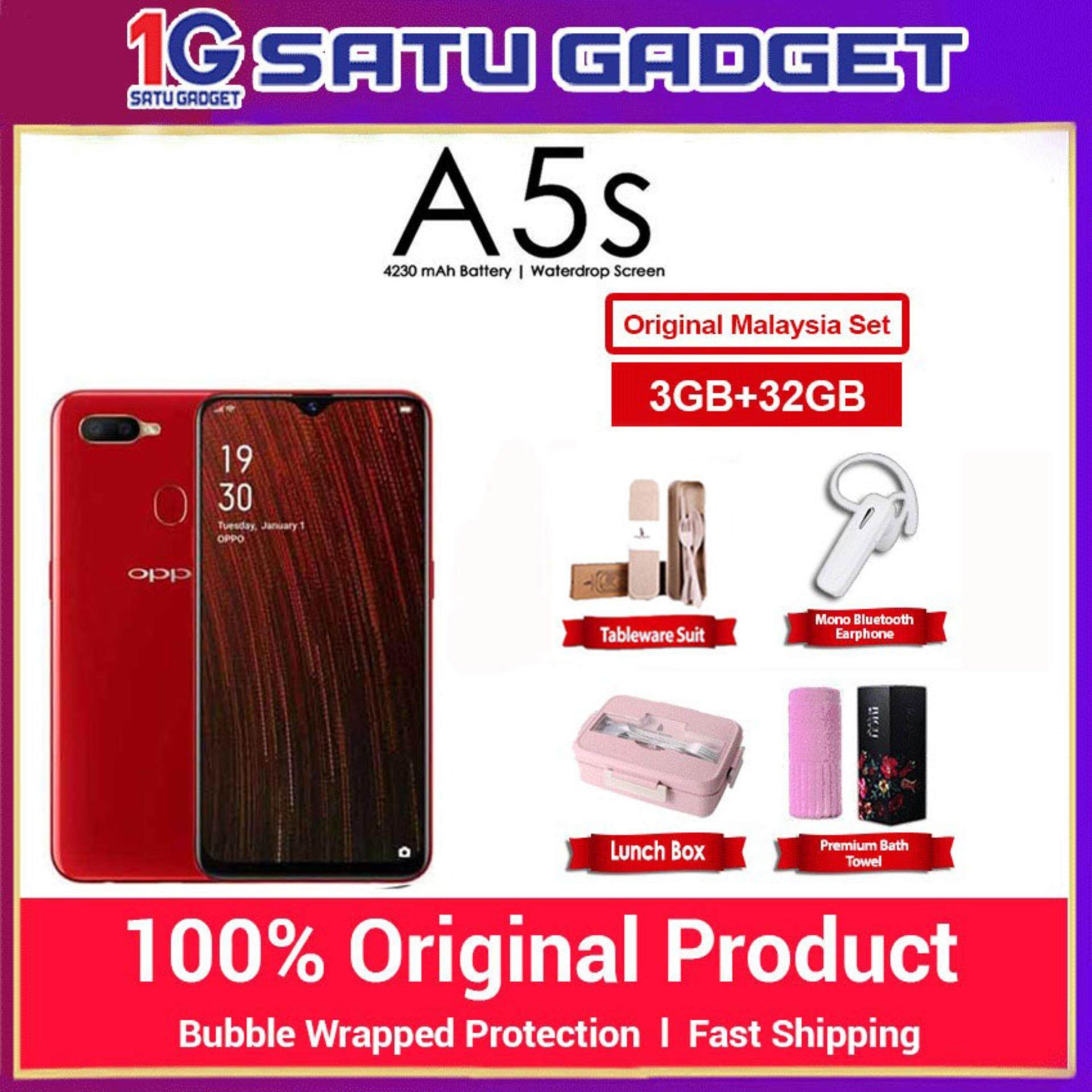 [ Free Gift ] OPPO A5s HandPhone [ 3+32GB ] 1 Year Warranty By Oppo Malaysia