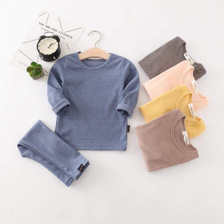 ZZOOI Autumn Winter Children Sleepwear 1-6 Years Girls & Boys Pajamas Sets  2Pcs Pajama Tops And Pants Set Kids Nightwear For Girls   Lazada