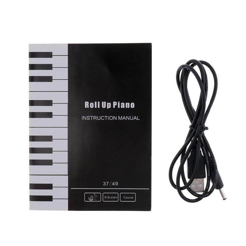 37 Keys Silicon Flexible Hand Roll Up Piano Soft Portable Electronic Keyboard Organ Music Gift For Children Student Malaysia