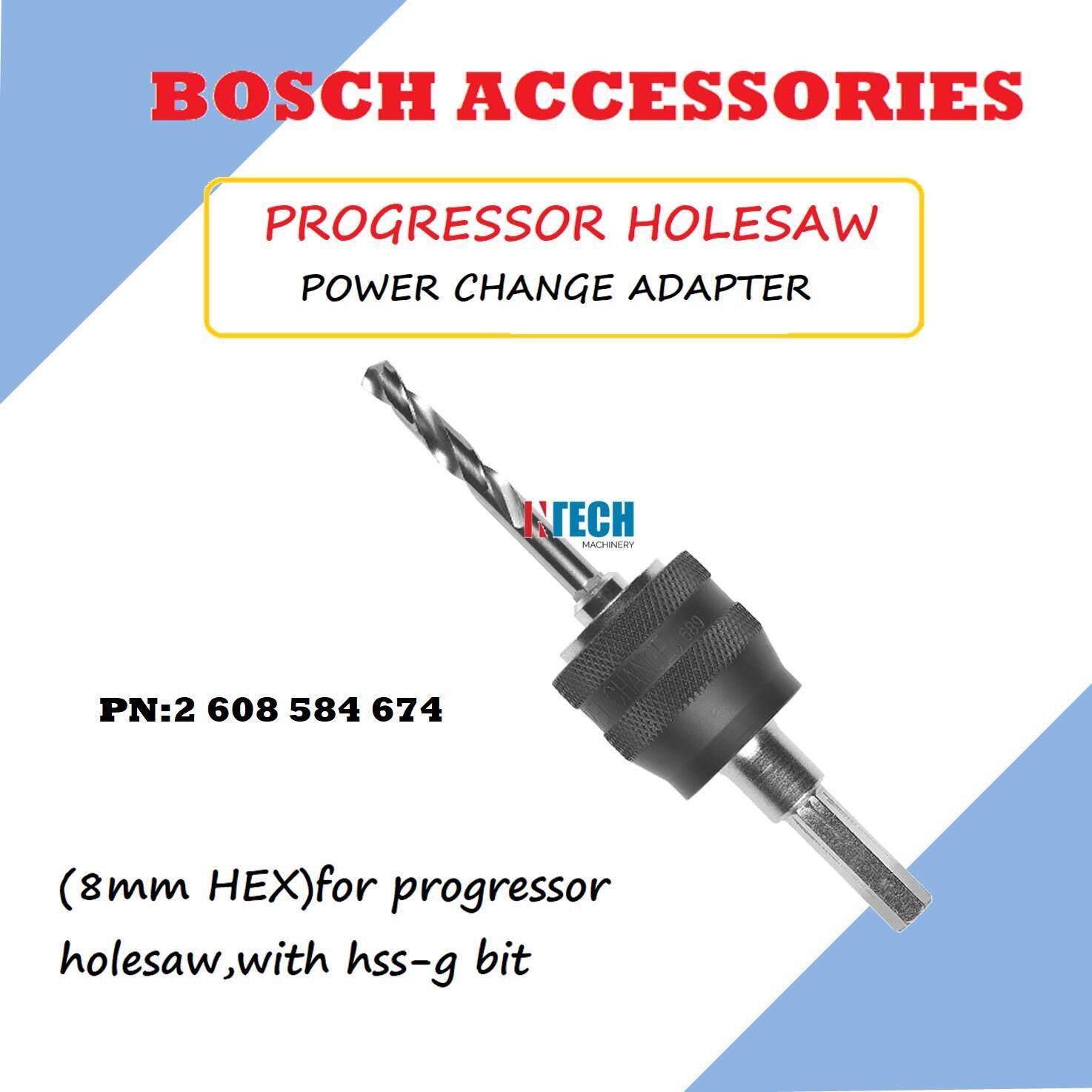 BOSCH PROGRESSOR HOLESAW POWER CHANGE ADAPTER (8mm HEX) PN:2608584674