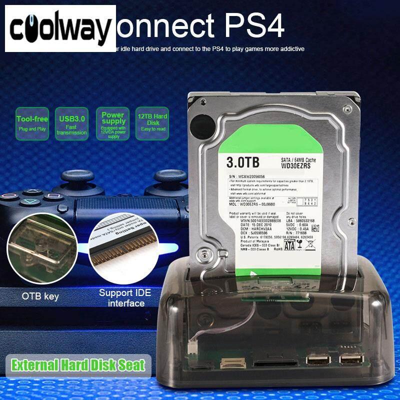 Loool Transparent 2.5/3.5 Inch Universal External Hard Drive Base for SATA/IDE Serial Port