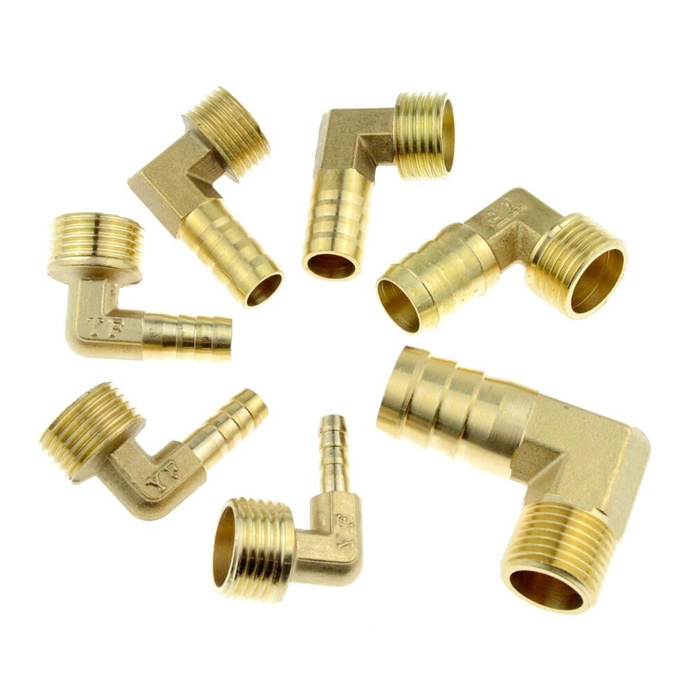 """Brass 1//4/"""" BSP Elbow Male Pipe Adapter Coupler"""