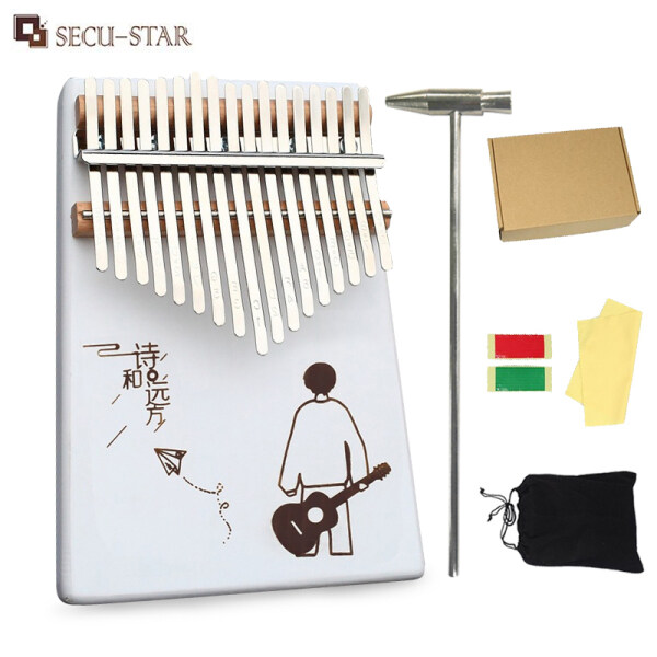 {Ready Stock}SECU-STAR Kalimba 17 Keys Finger Piano Percussion Instrument Wooden Thumb Piano with Accessories Malaysia