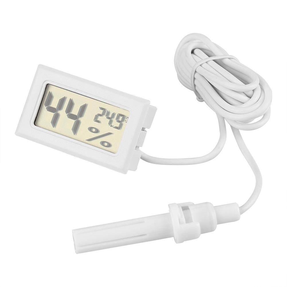 LCD Digital Tampilan Kelembaban Suhu Thermometer Hygrometer dengan Probe Eksternal untuk Reptil