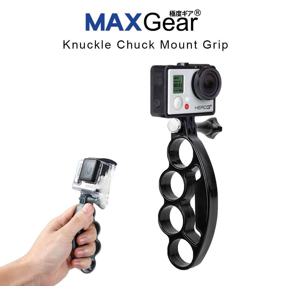 Maxgear Knuckle Chuck Mount Grip Monopod Camera Gopro Hero Action Camera - Black By Prado.