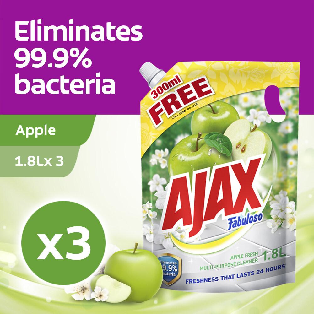 Ajax Fabuloso Apple Multi Purpose Cleaner Refill 1.8L Refill [Bundle Of 3] Value Deal