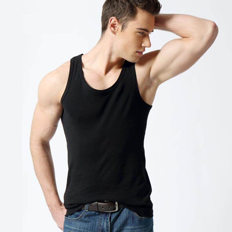 fb05be4ec44c4 Summer Men Tank Tops Slim Fit Bodybuilding Fitness Gym Tops Tees Sleeveless  100% Cotton Wicking