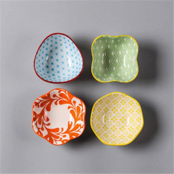 Ceramic Soy Sauce Sauce Dish Household Seasoning Small Condiment Dish Creative Japanese Dessert Snack Plate Seasoning Bowl