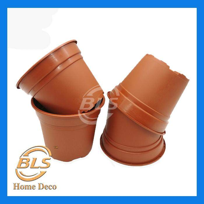 20 PCS DIAMETER 12 CM NP 120 BROWN COLOR FLOWER PLANT POT GARDENING POT