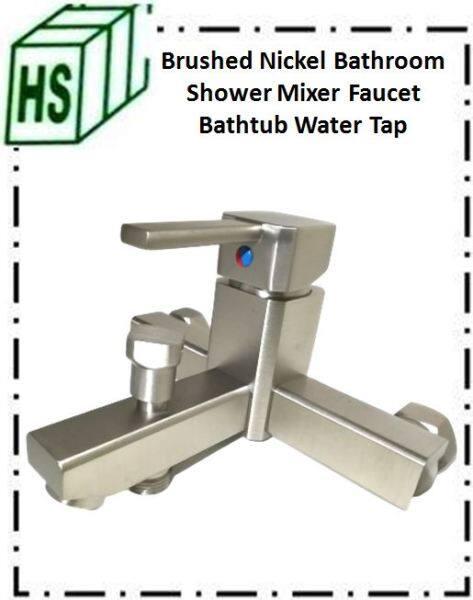 Brushed Nickel Bathroom Shower Mixer Faucet Bathtub Water Tap