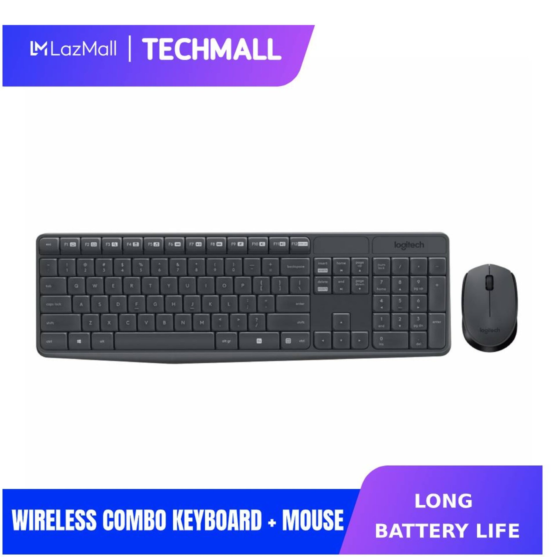 [CNY Flash Sale] Logitech MK235 Wireless Combo Keyboard + Mouse Malaysia