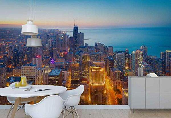 Wallpaper Chicago Coast Twilight Skyline City - Wall mural - Wall decoration - Poster picture photo  - HD print - YCRY Modern decorative