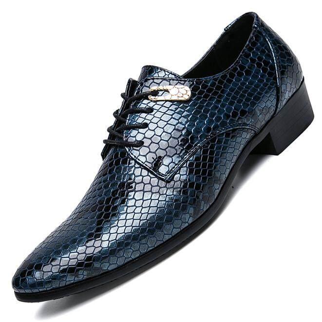 EU38-47 Plus Size Men s Fashion Leather Shoes Pointed Toe Formal Shoes  Durable Dress Shoes ef923b90f061