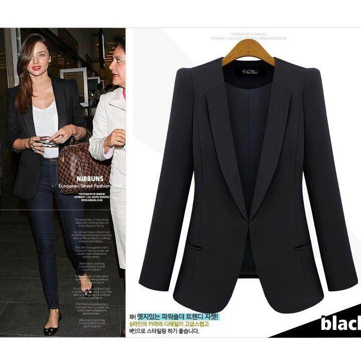 Blazers Back To Search Resultswomen's Clothing Glorious Casual Blazers Women Spring Simple Solid Blue Office Work Wear Suit Jackets Fashion High Street Elegant Business Ladies Blazer