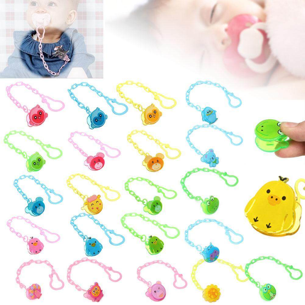Dummy Soother Pacifier Clip Holder String Chain Clip Baby Nipple Cute Animal